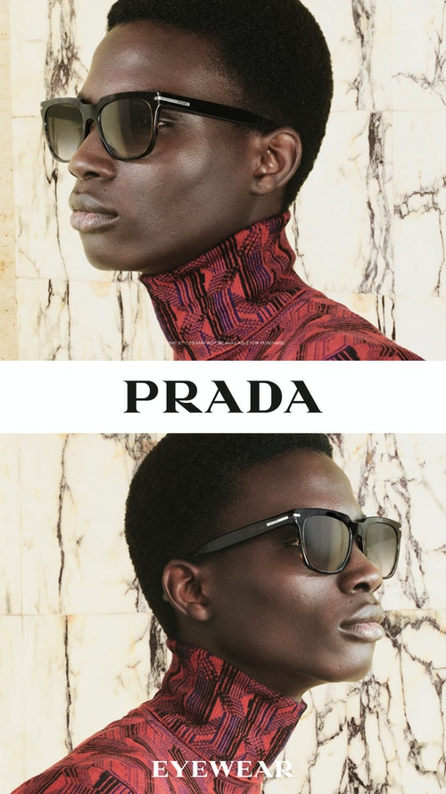 Bilde av modell med solbrille fra Prada
