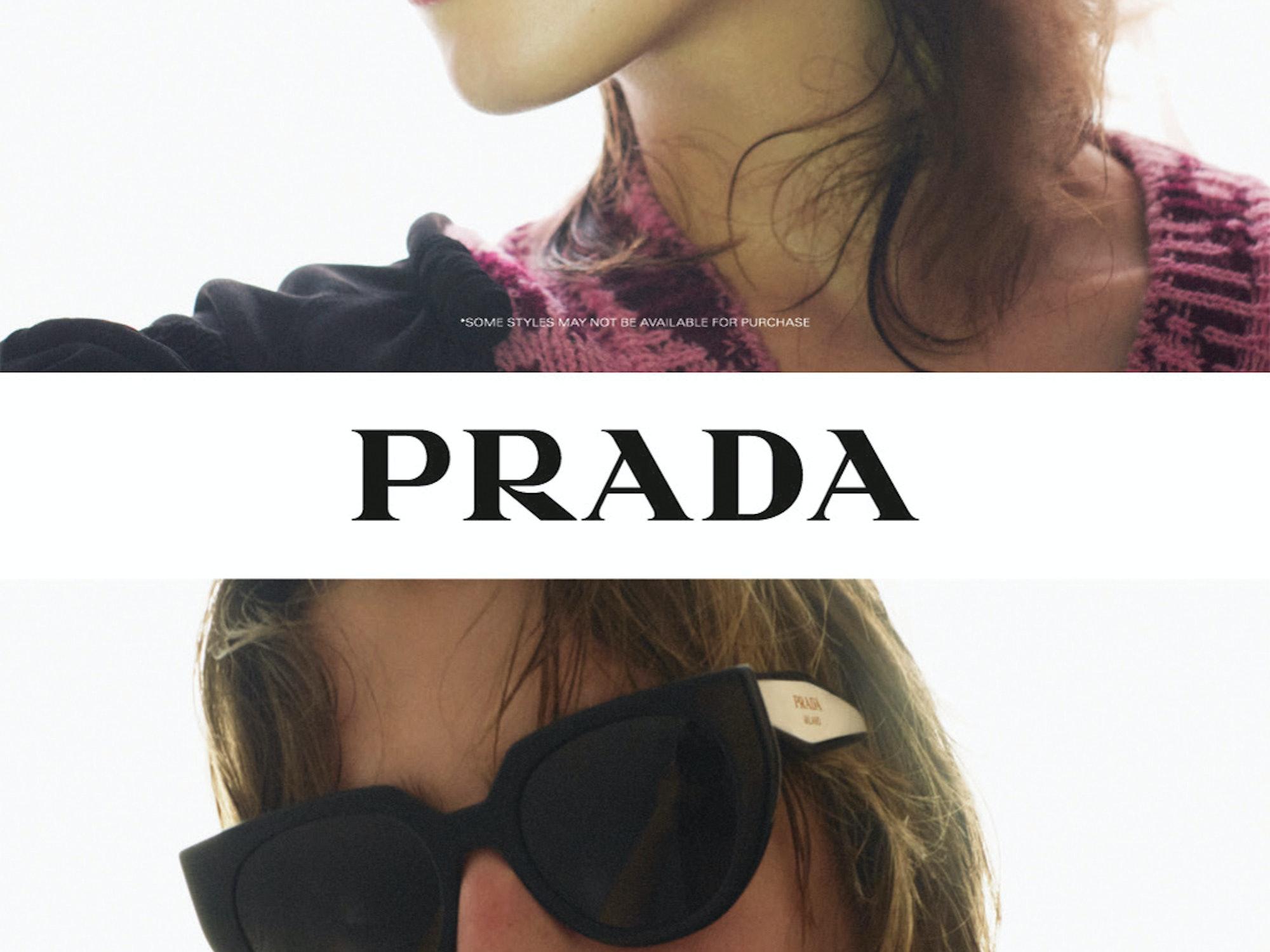Video av modell med solbrille fra Prada