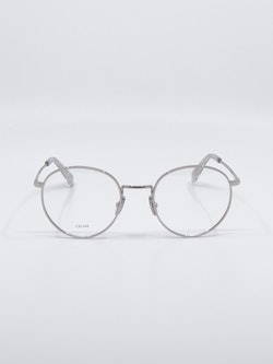 Bilde av rund metallbrille i sølv fra Celine
