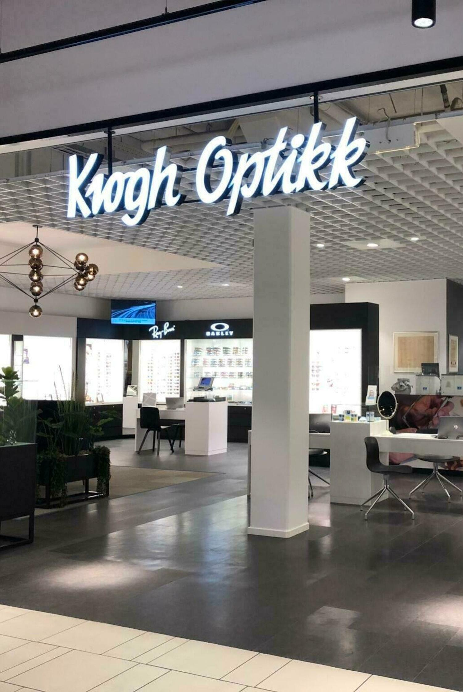Inngang til Krogh Optikk Sandvika