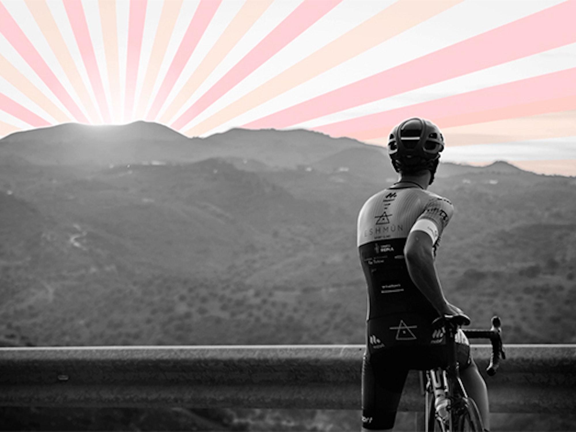 Illustrasjon av en syklist